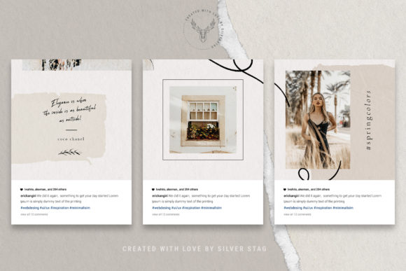 Print on Demand: 10 Instagram Puzzle Template Graphic Websites By SilverStag - Image 14