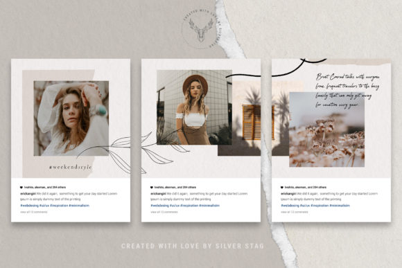 Print on Demand: 10 Instagram Puzzle Template Graphic Websites By SilverStag - Image 15