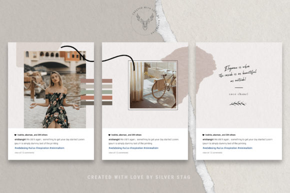 Print on Demand: 10 Instagram Puzzle Template Graphic Websites By SilverStag - Image 16