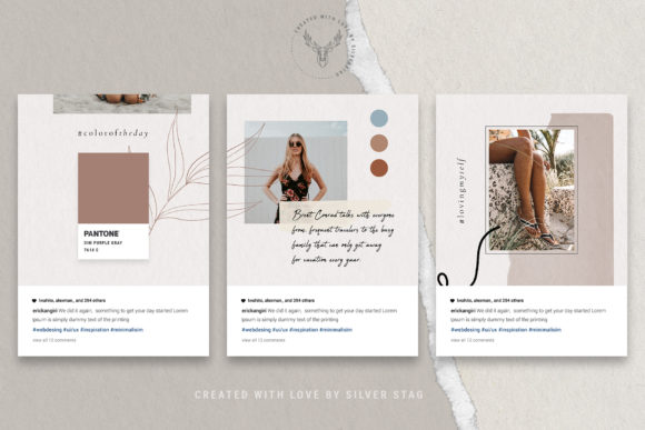 Print on Demand: 10 Instagram Puzzle Template Graphic Websites By SilverStag - Image 17