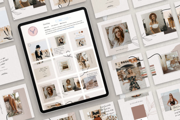 Print on Demand: 10 Instagram Puzzle Template Graphic Websites By SilverStag - Image 2