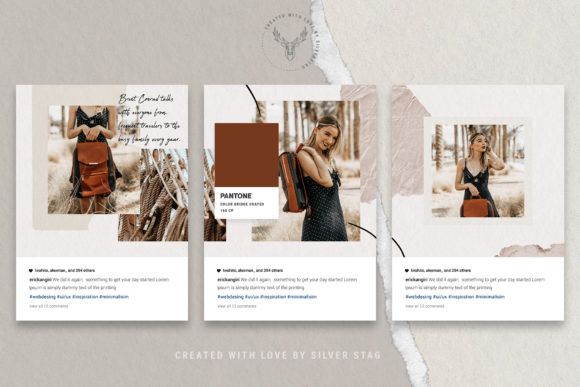 Print on Demand: 10 Instagram Puzzle Template Graphic Websites By SilverStag - Image 20