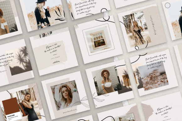 Print on Demand: 10 Instagram Puzzle Template Graphic Websites By SilverStag - Image 4