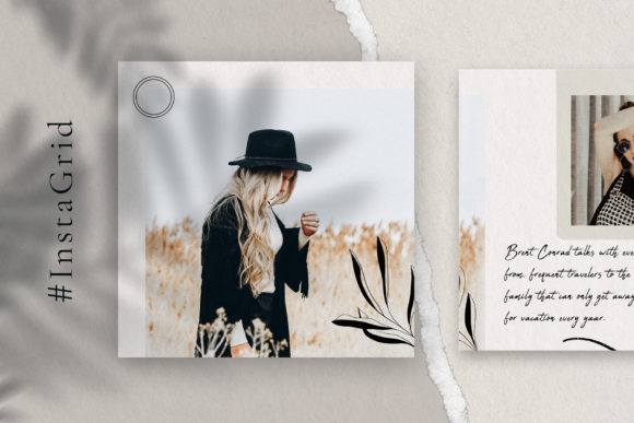 Print on Demand: 10 Instagram Puzzle Template Graphic Websites By SilverStag - Image 5