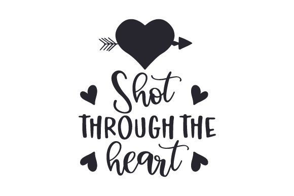 Download Free Shot Through The Heart Svg Cut File By Creative Fabrica Crafts for Cricut Explore, Silhouette and other cutting machines.