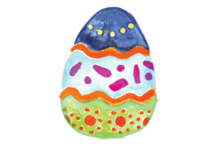 Painted Easter Egg in Watercolor Easter Craft Cut File By Creative Fabrica Crafts