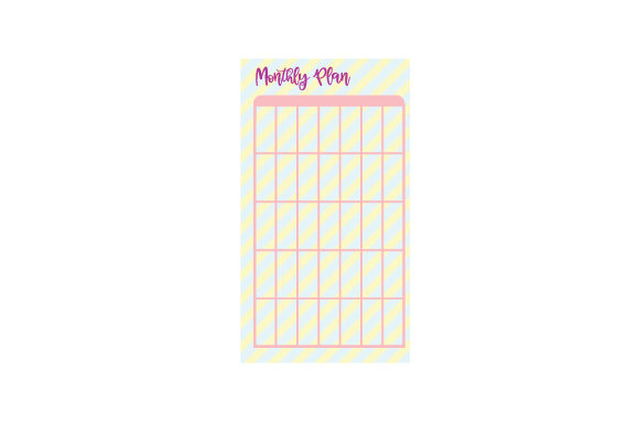 Monthly Planner Page Work Craft Cut File By Creative Fabrica Crafts