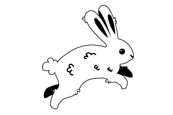 Download Free Bunny Hopping Svg Cut File By Creative Fabrica Crafts Creative for Cricut Explore, Silhouette and other cutting machines.