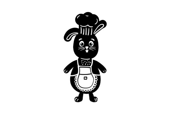 Download Free Bunny Wearing An Apron And Chef Hat Svg Cut File By Creative for Cricut Explore, Silhouette and other cutting machines.