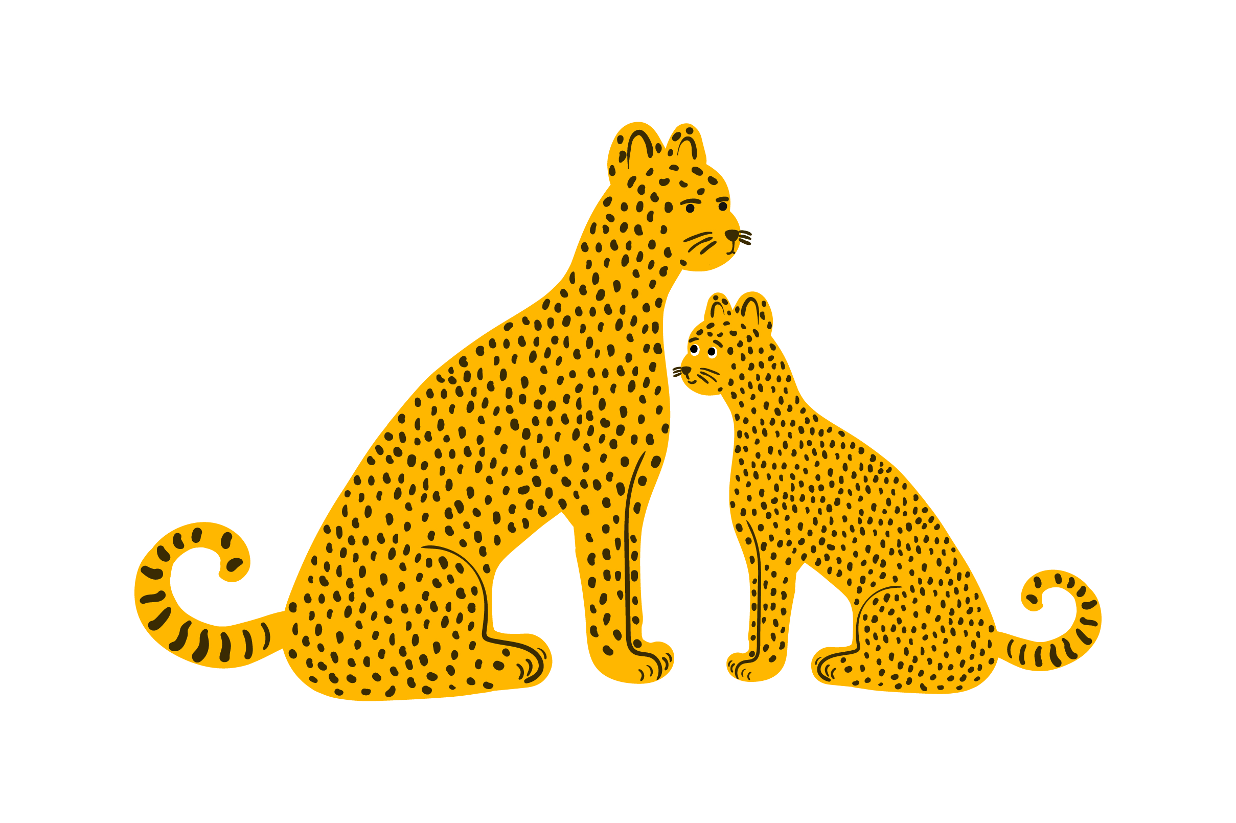 Download Free Mom And Baby Leopards Svg Cut File By Creative Fabrica Crafts for Cricut Explore, Silhouette and other cutting machines.