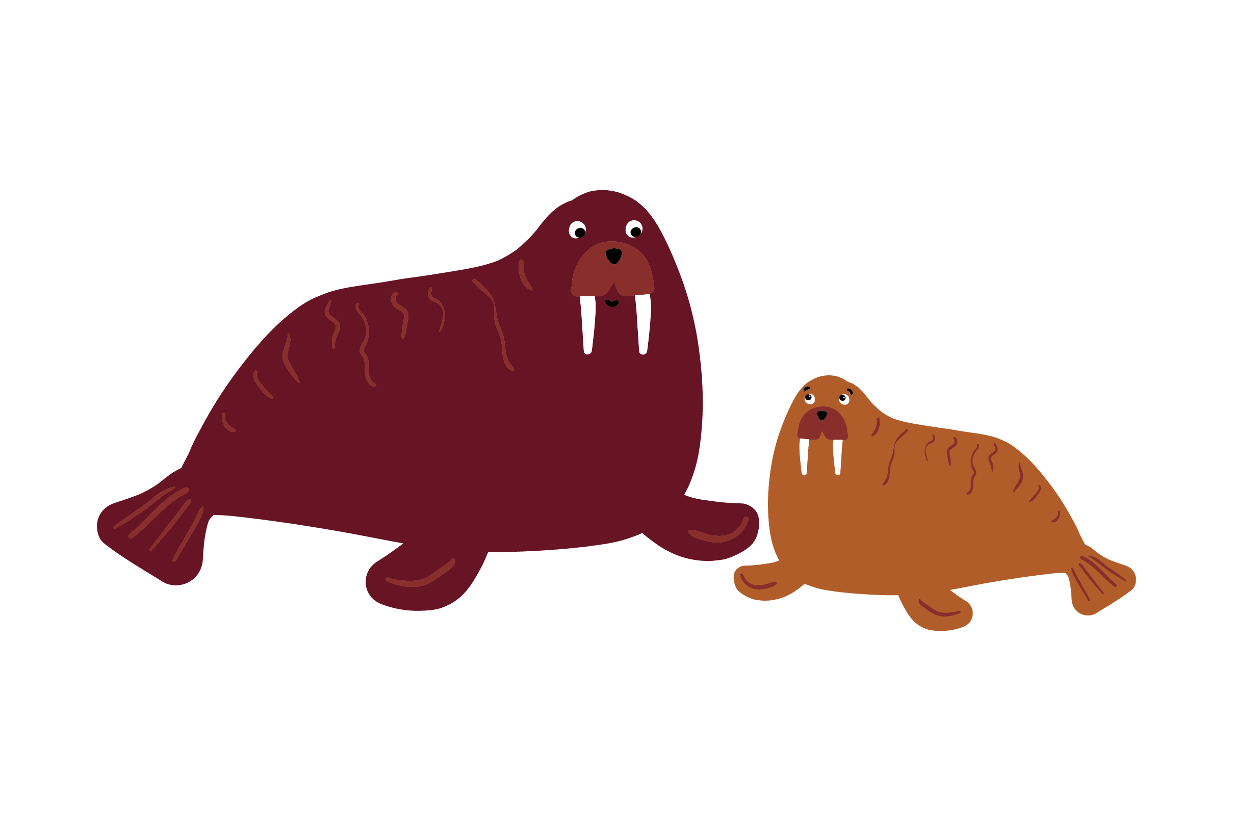 Download Free Mom And Baby Walruses Svg Cut File By Creative Fabrica Crafts Creative Fabrica for Cricut Explore, Silhouette and other cutting machines.