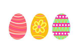 Painted Easter Eggs Easter Craft Cut File By Creative Fabrica Crafts