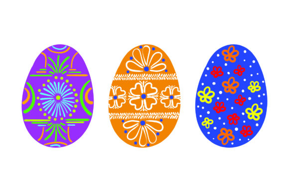Painted Easter Eggs - Colorful Easter Craft Cut File By Creative Fabrica Crafts