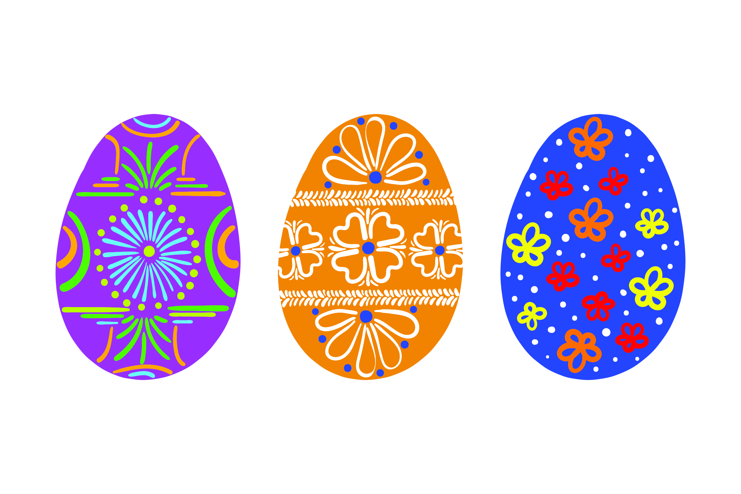 Download Free Painted Easter Eggs Colorful Svg Cut File By Creative Fabrica for Cricut Explore, Silhouette and other cutting machines.