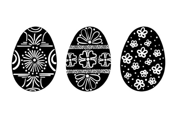 Painted Easter Eggs - Red and White Easter Craft Cut File By Creative Fabrica Crafts - Image 2