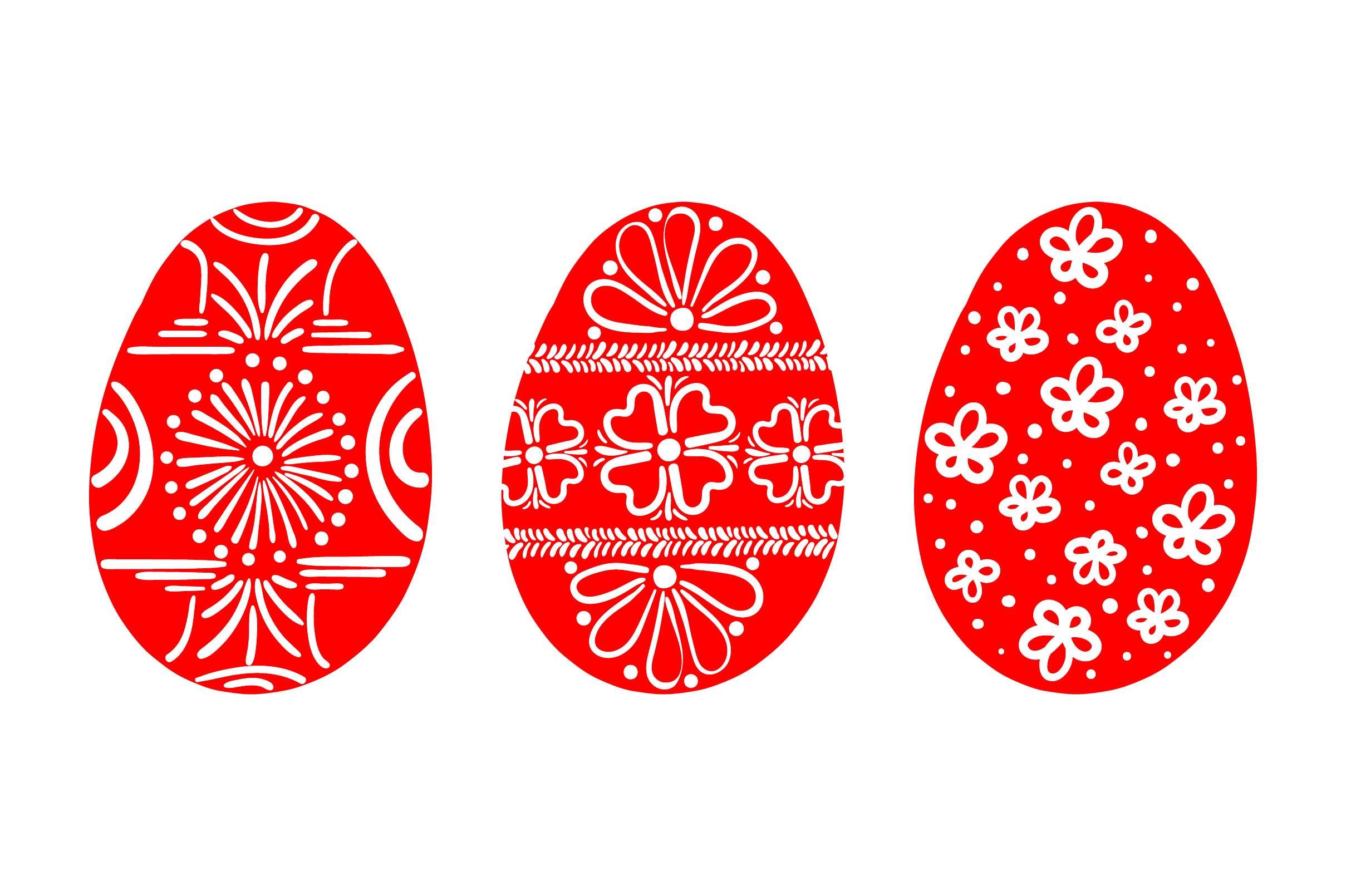 Download Free Painted Easter Eggs Red And White Svg Cut File By Creative for Cricut Explore, Silhouette and other cutting machines.
