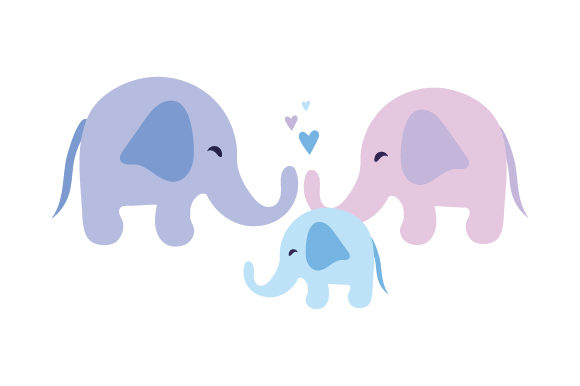 Download Free Elephant Family Svg Cut File By Creative Fabrica Crafts for Cricut Explore, Silhouette and other cutting machines.