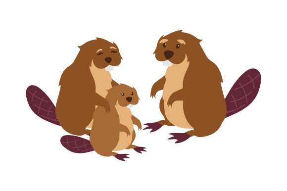 Download Free Beaver Family Svg Cut File By Creative Fabrica Crafts Creative for Cricut Explore, Silhouette and other cutting machines.