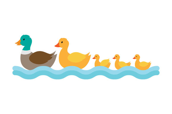 Duck Family Animals Craft Cut File By Creative Fabrica Crafts