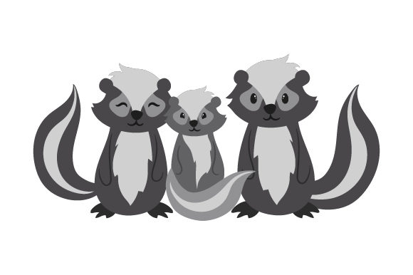 Skunk Family Animals Craft Cut File By Creative Fabrica Crafts - Image 1