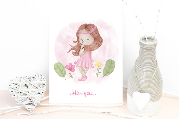 Print on Demand: Angel Girl Wings Graphic Illustrations By PawStudio - Image 5