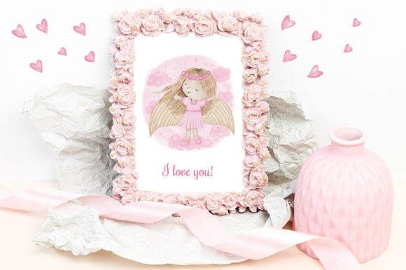 Print on Demand: Angel Girl Wings Graphic Illustrations By PawStudio - Image 6