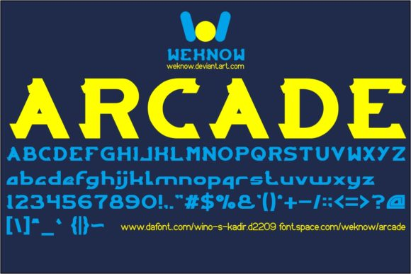 Print on Demand: Arcade Display Font By weknow
