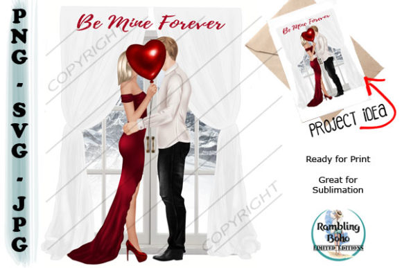 Be Mine Forever Graphic Illustrations By RamblingBoho