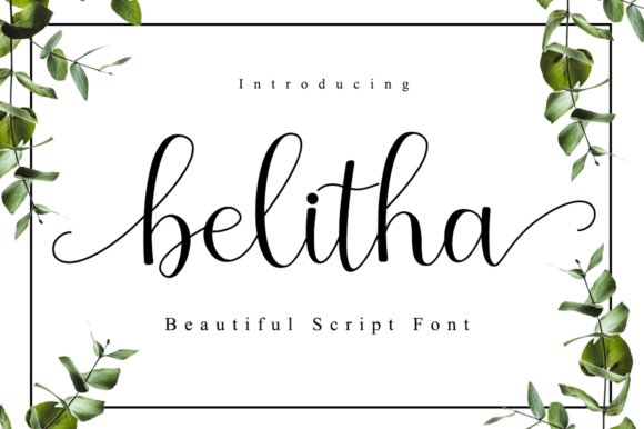 Print on Demand: Belitha Script & Handwritten Font By Manjalistudio