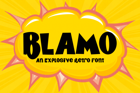 Print on Demand: Blamo Display Font By amber_nest