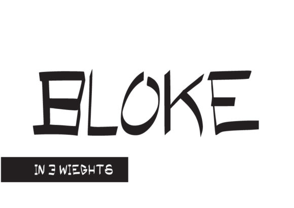 Print on Demand: Bloke Display Font By GraphicsBam Fonts
