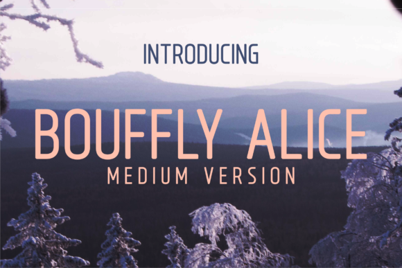 Print on Demand: Bouffly Alice Medium Sans Serif Font By Huntype