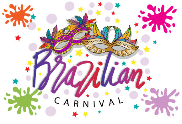 Brazilian Carnival Background Graphic Graphic Templates By han.dhini