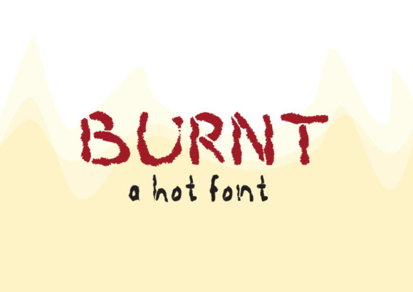 Print on Demand: Burnt Display Fuente Por GraphicsBam Fonts