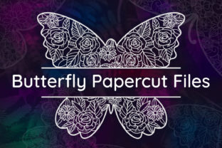 Print on Demand: Butterfly Papercut Graphic Crafts By tatiana.cociorva