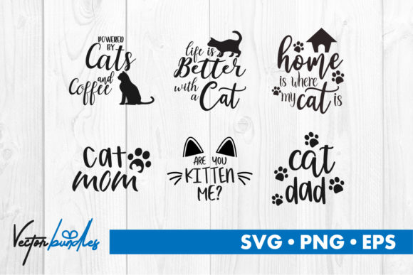 Print on Demand: Cat Quotes Graphic Crafts By vectorbundles