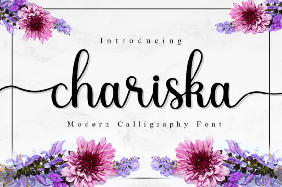 Print on Demand: Chariska Script & Handwritten Font By Manjalistudio