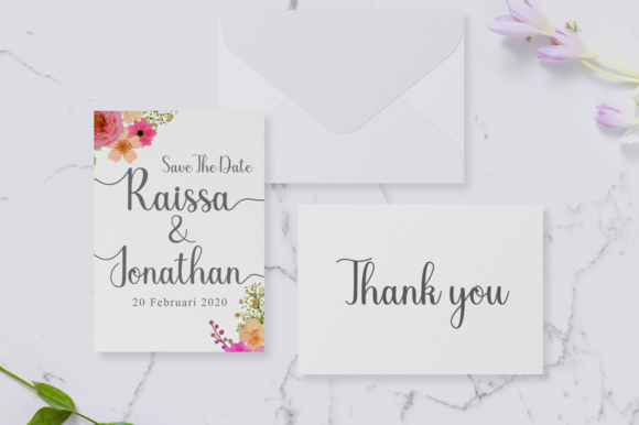 Print on Demand: Chariska Script & Handwritten Font By Manjalistudio - Image 3