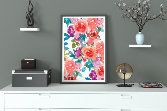 Coral and Fandango Watercolor Set Graphic Illustrations By Patishop Art - Image 7