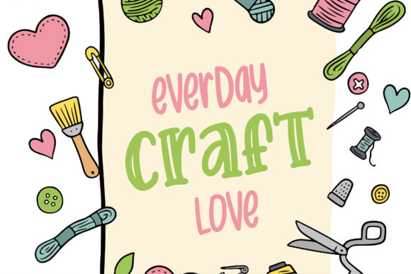 Print on Demand: Crafter Display Font By Sigit Dwipa - Image 3