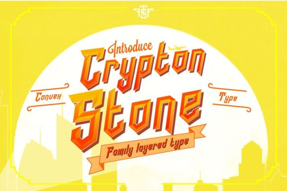 Print on Demand: Crypton Stone Display Font By uncurve