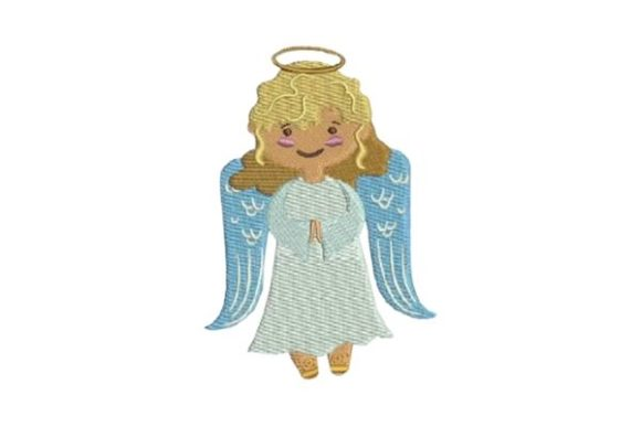 Cute Christmas Angel Christmas Embroidery Design By Embroidery Designs