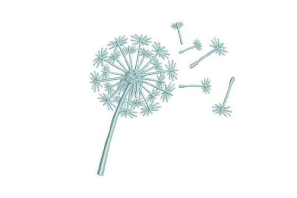 Dandelion Single Flowers Embroidery Design By Embroidery Designs