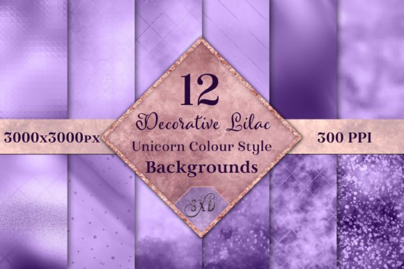 Print on Demand: Decorative Lilac Backgrounds Graphic Backgrounds By SapphireXDesigns