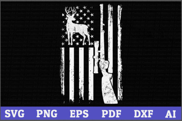 Deer Hunting American Flag Graphic Crafts By AartStudioExpo