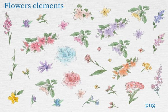 Print on Demand: Delicate Spring Flowers Graphic Illustrations By nicjulia - Image 12