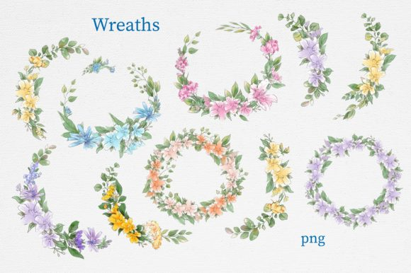 Print on Demand: Delicate Spring Flowers Graphic Illustrations By nicjulia - Image 15