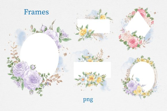 Print on Demand: Delicate Spring Flowers Graphic Illustrations By nicjulia - Image 3