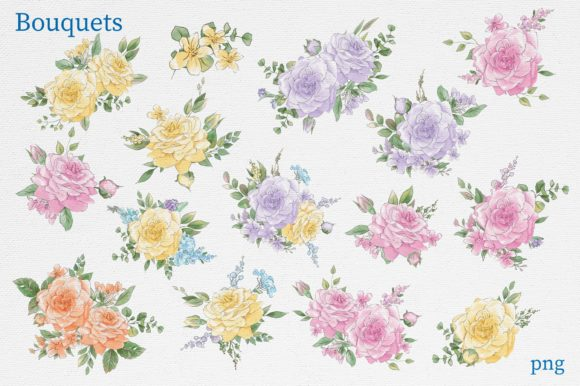 Print on Demand: Delicate Spring Flowers Graphic Illustrations By nicjulia - Image 8