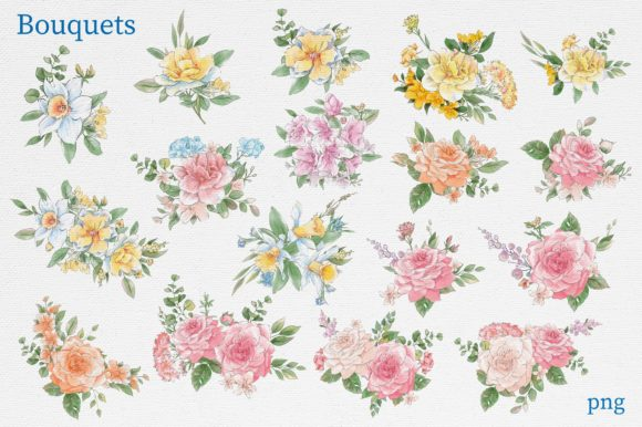 Print on Demand: Delicate Spring Flowers Graphic Illustrations By nicjulia - Image 9